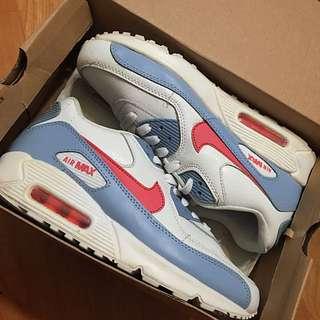Nike Air Max 水藍x紅勾 白鞋 正品