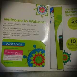 WATSON member Card Singapore. (Normal Postage Only)