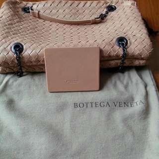 Bottega Veneta Nero Intrecciato Nappa Chain DUO Bag