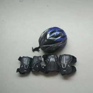 Skate Helmet, Elbow Knee Guard