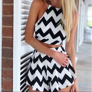 Stripe Top And Bottom