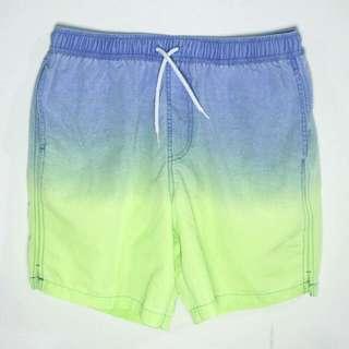 ASOS螢光綠漸層海灘褲