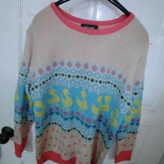 Lulus小鴨童趣厚針織毛衣