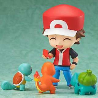 New Nintendo Nendoroid Pokemon Center Red Bulbasaur Charmander Squirtle 425 Ash