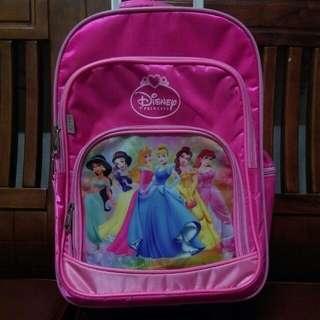 迪士尼公主小學拖拉書包