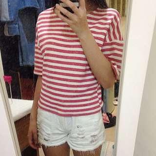 LuLus紅色條紋上衣