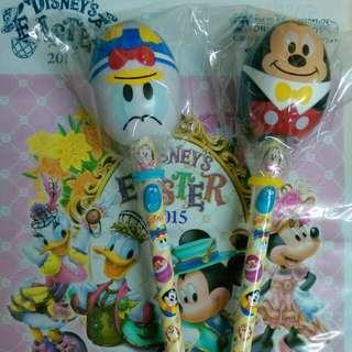 2015 日本東京迪士尼復活節限定米奇、唐老鴨鉛筆+削筆器