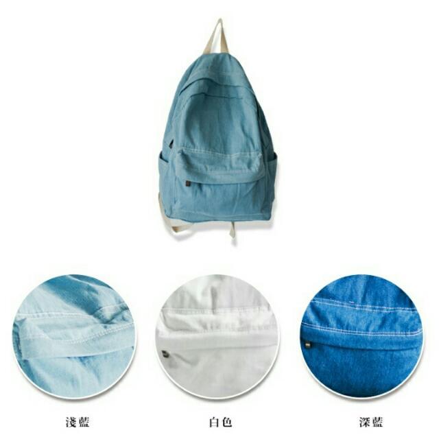 預購款 客製手繪大容量牛仔帆布後背包