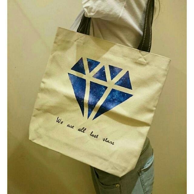 手繪肩背包『鑽石下的星空🌌』