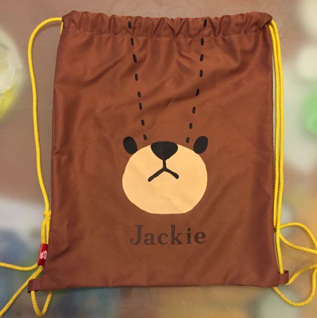 超可愛小熊學校束口袋