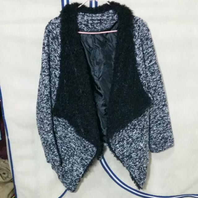 歐美時尚刷毛短版外套