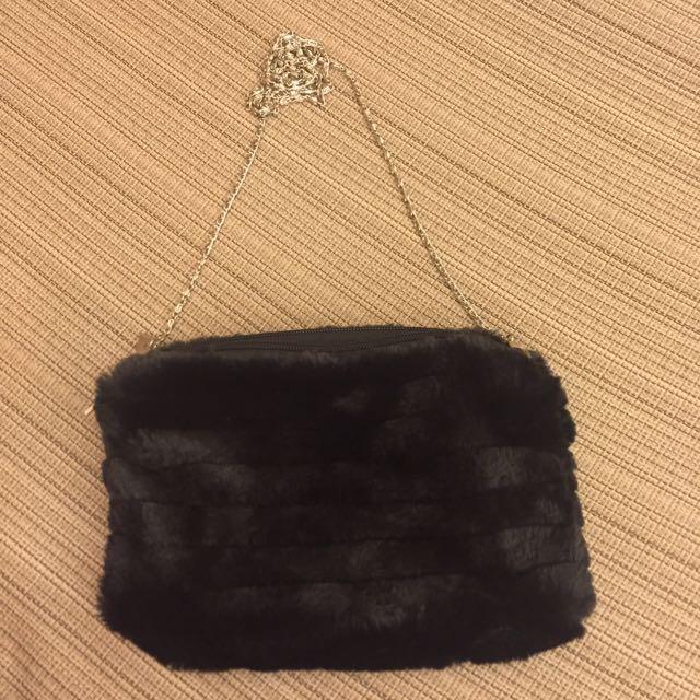 (全新)冬季雙拉鍊側背包~含運(郵寄)