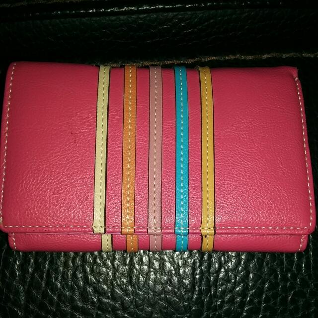 全新 粉紅色 皮夾 錢包