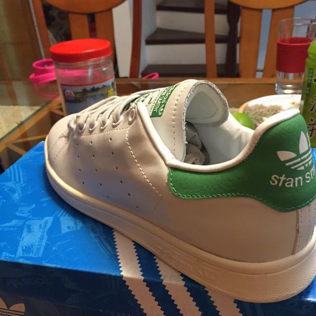 ADIDAS ORIGINALS STAN SMITH 白綠 皮革 奶油底