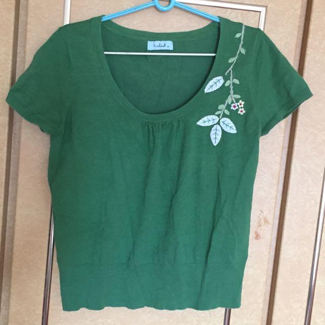 二手b.club綠色針織上衣