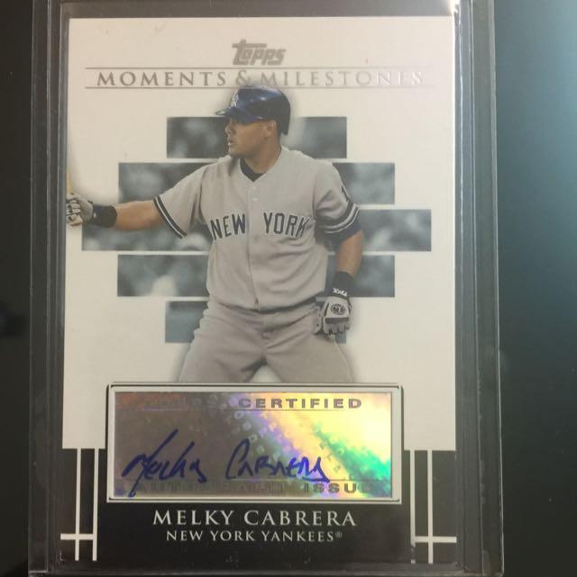Melky Cabrera 簽名卡