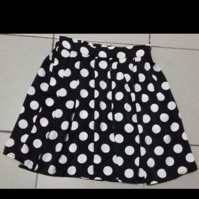 Rok Mini Dot Putih