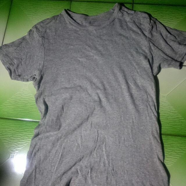 Uniqlo 純棉素色薄T 灰色