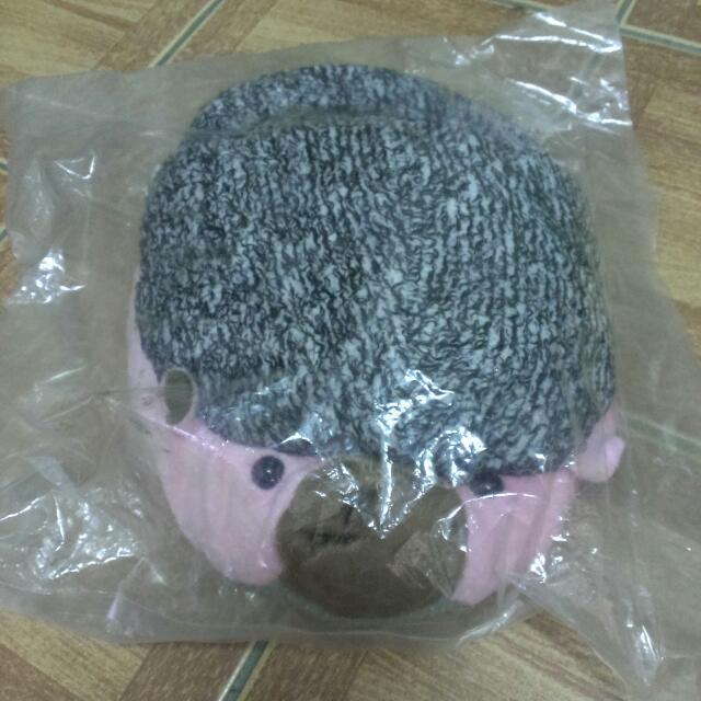 粉紅刺蝟usb暖腳娃娃
