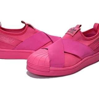 愛迪達 限量粉色貝殼鞋