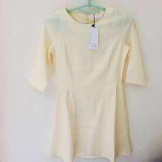 🚚 (全新)五分袖典雅洋裝