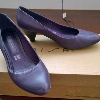 德國帶回5th Avenue紫色低跟鞋37號