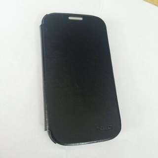 S3 翻蓋式手機保護套 保護殼 黑色 硬皮