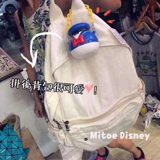 留 待面交 全新 Mitoe購入白色帆布後背包