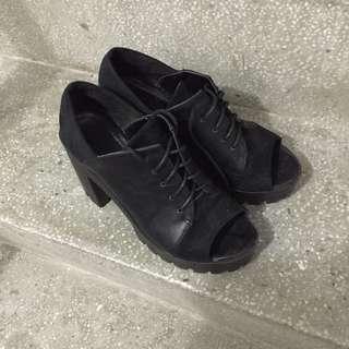 魚口厚底鞋