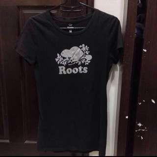 (降400)正品roots短袖
