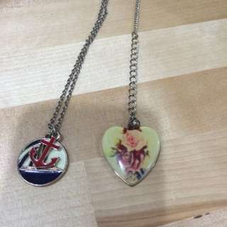 Simple Necklaces (Forever 21 & Cache-cache)