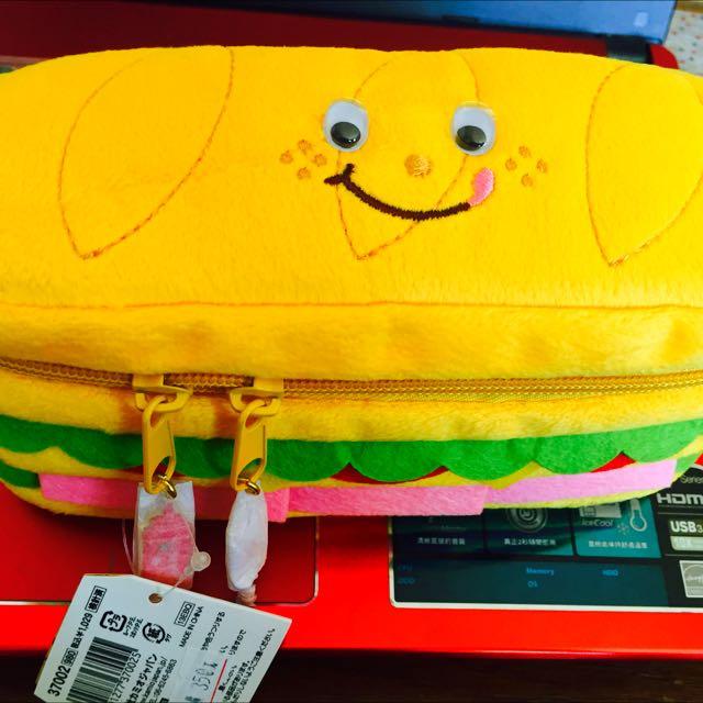 漢堡造型鉛筆盒