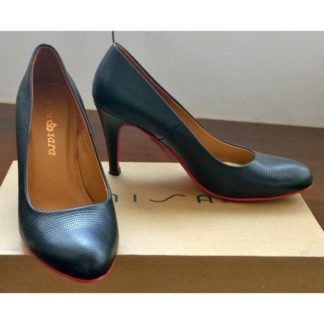 紅底黑色系跟性感高跟鞋