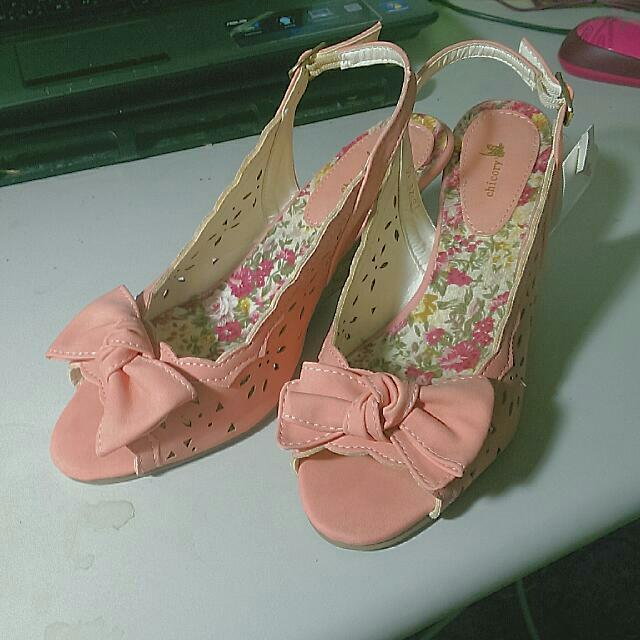 日本購入甜美楔型鞋