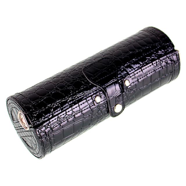 🎊 🎊[新品二]  ண特殊多用途造型的設計☜♥☞鱷魚紋圓筒形型多用化妝品收納盒