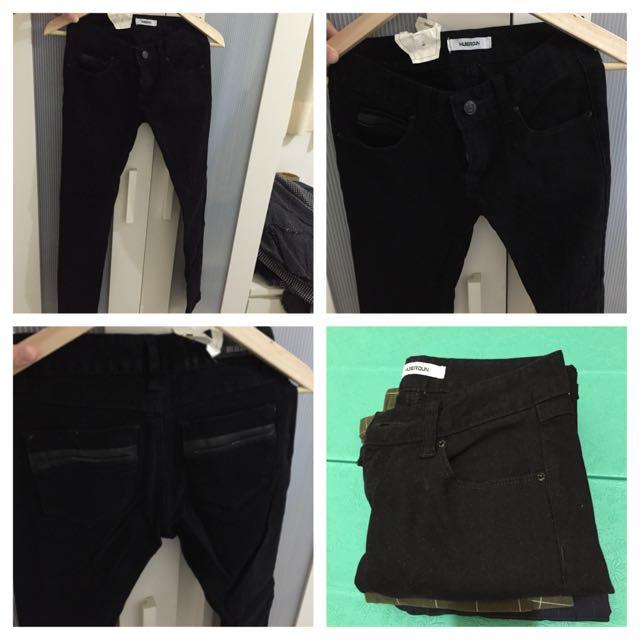 韓版 黑色牛仔褲(含運)