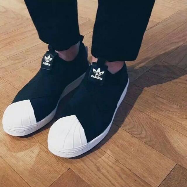 愛迪達 貝殼情侶鞋 (黑)