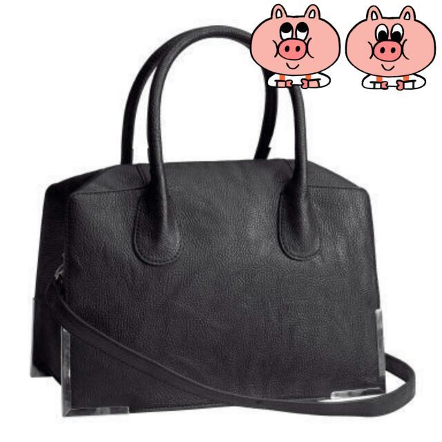 全新~ 英國代購 H&M 質感黑色手提/肩背/側背三用包(原價2000多)