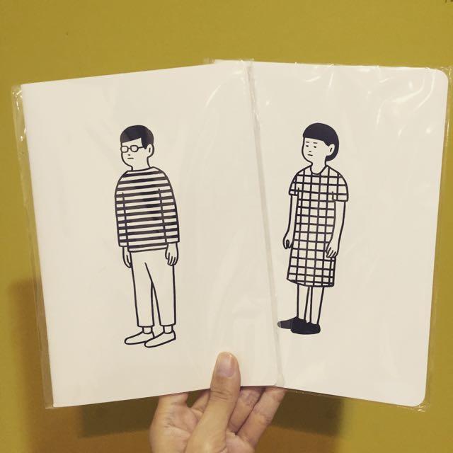 日本 NORITAKE 男孩條紋/女孩格紋, 筆記本