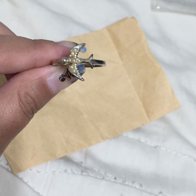 Accessorize 珍珠小鳥戒指