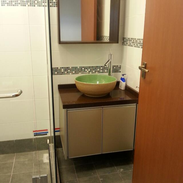 800mm aluminium cabinet for hdb bto toilet luxury on for Bathroom cabinets singapore