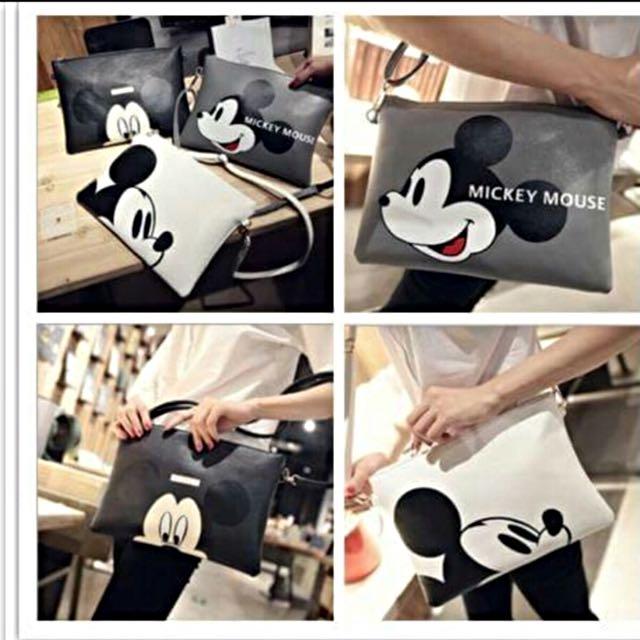 Mickey肩背包 手拿包(黑色)