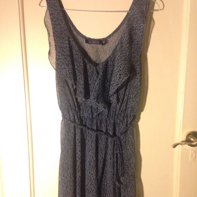 Navy Size 10 Dress With Draw String
