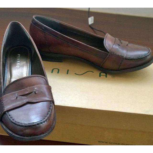 德國帶回pesaro咖啡色真皮制服鞋