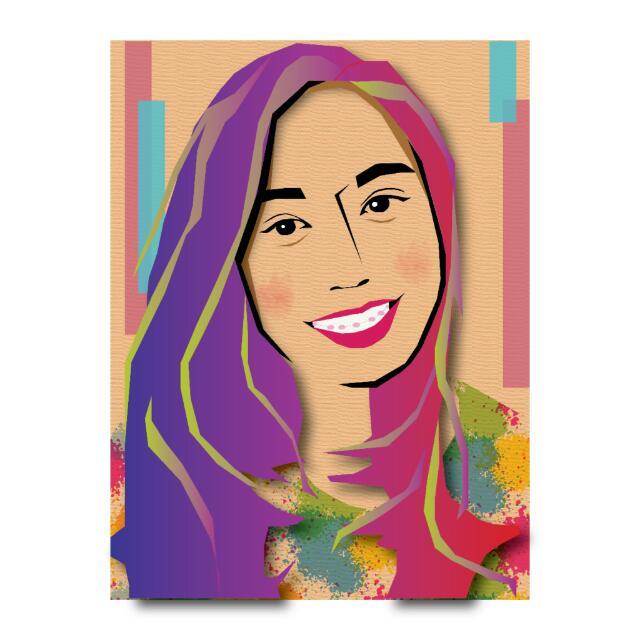 Portrait Illustration - In Purple