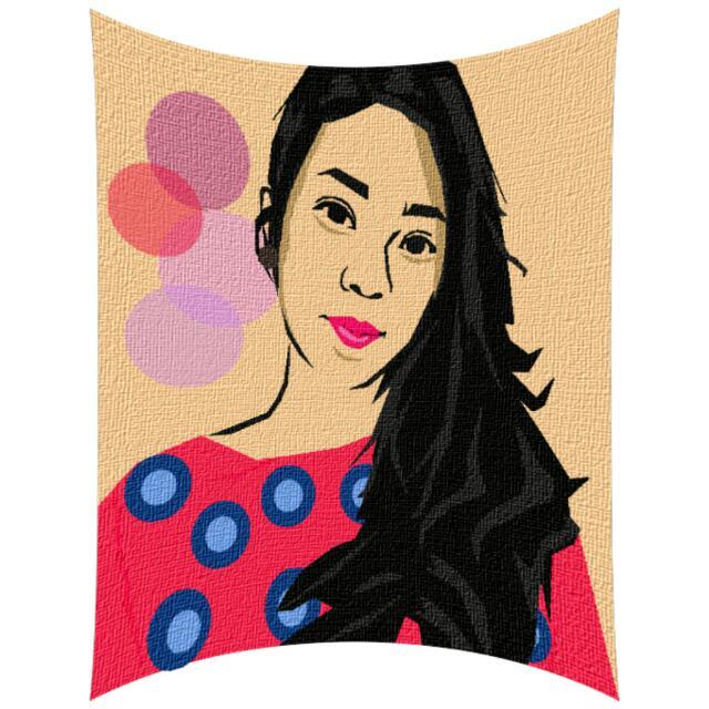 Portrait Illustration - In Pink ♡