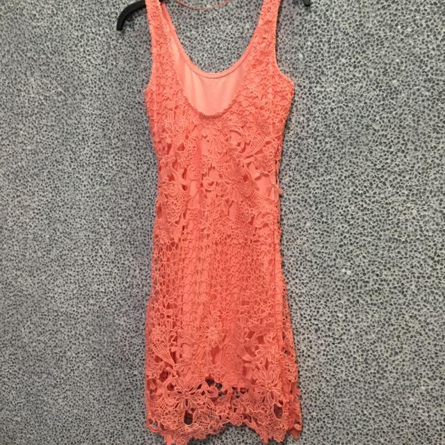 Pull&Bear 蕾絲性感洋裝(全新)