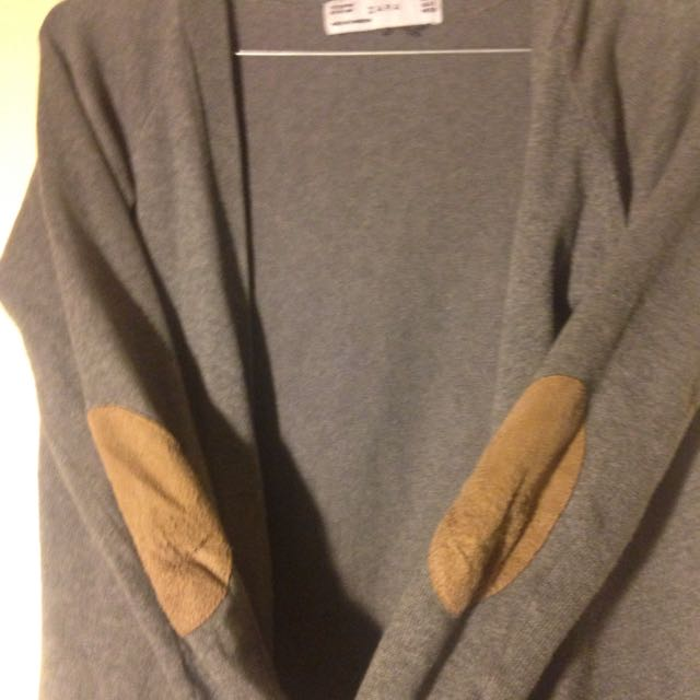 Zara Size 8 Cardigan With Swede Elbow Pads