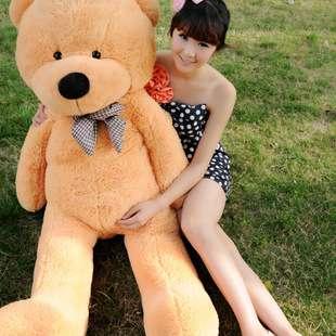 泰迪熊可愛熊 熊熊 泰迪熊抱枕大玩偶 毛質超柔軟 情人節 七夕 生日 婚禮 滿月禮 160cm