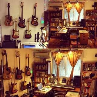 Guitar,bass,ukulele,音樂教學,錄音編曲,詞曲創作。